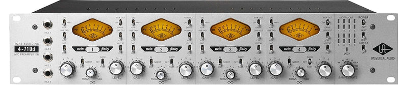 Universal Audio 4-710d Four-Channel Tone-Blending Mic Pre