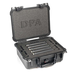 DPA d:mension™ Surround Kit with 3 x 4006A, 2 x 4011A, Clips, Windscreens in Peli Case