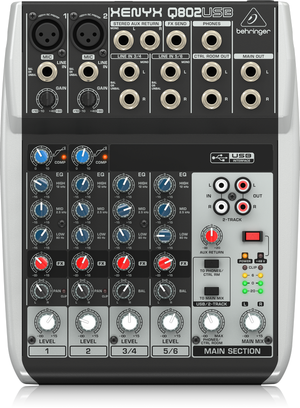 Behringer Xenyx Q802USB Mixer with USB