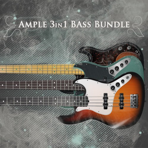 Ample Sound Ample 3 in 1 Electric Bass Bundle