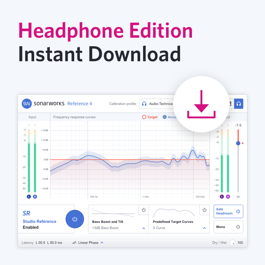 "Sonarworks ""Reference 4 Headphone edition download only"""