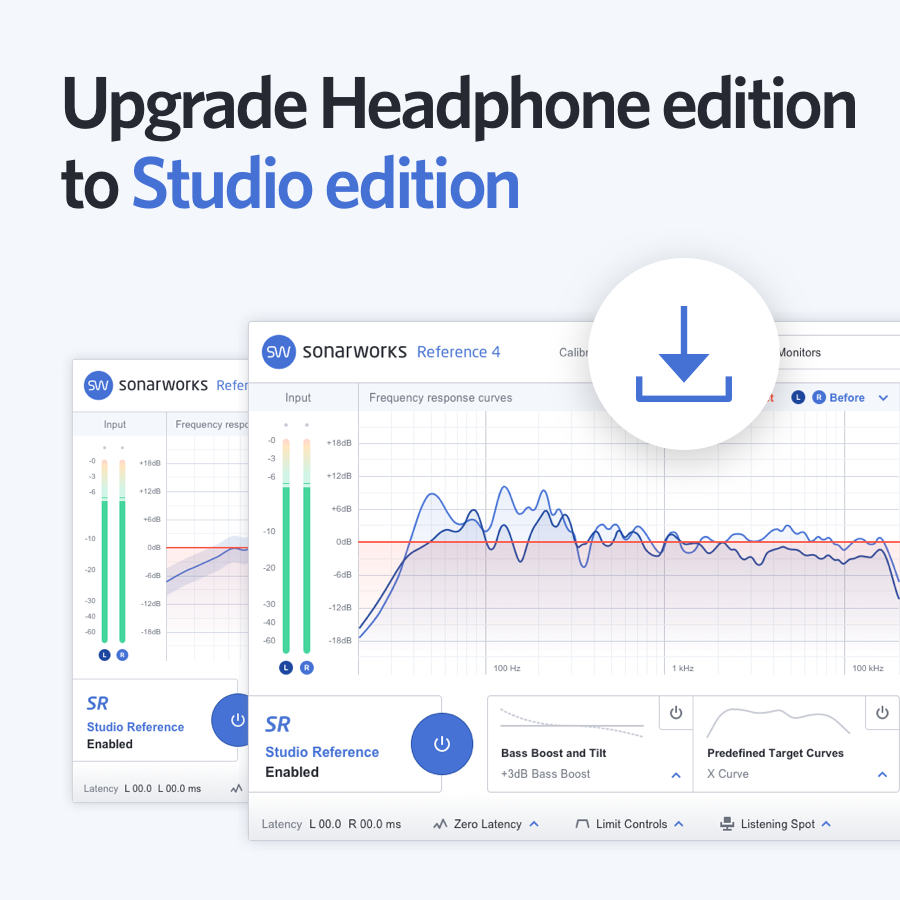 Sonarworks Upgrade Headphone to Studio edition download only