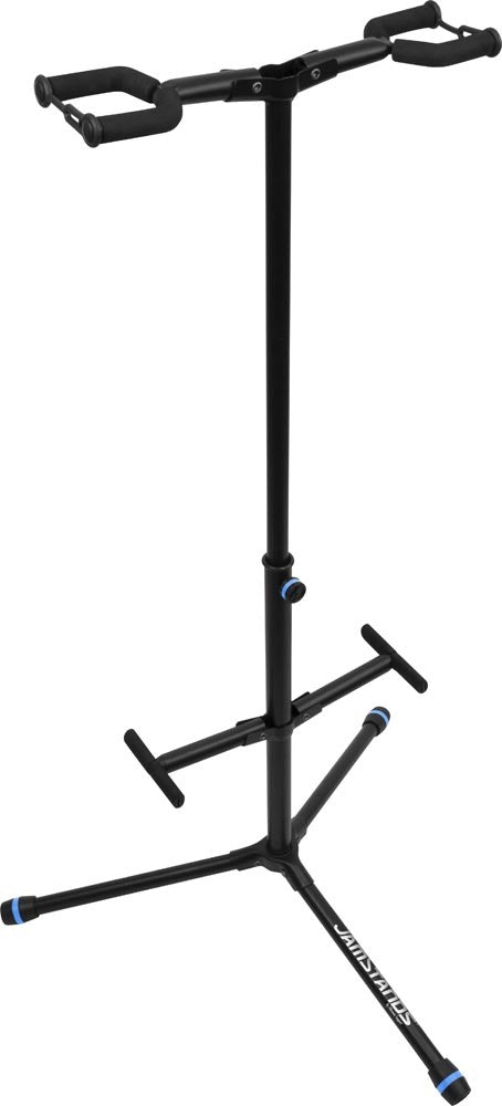 JamStands Double Hanging-Style Guitar Stand - with colored accent bands