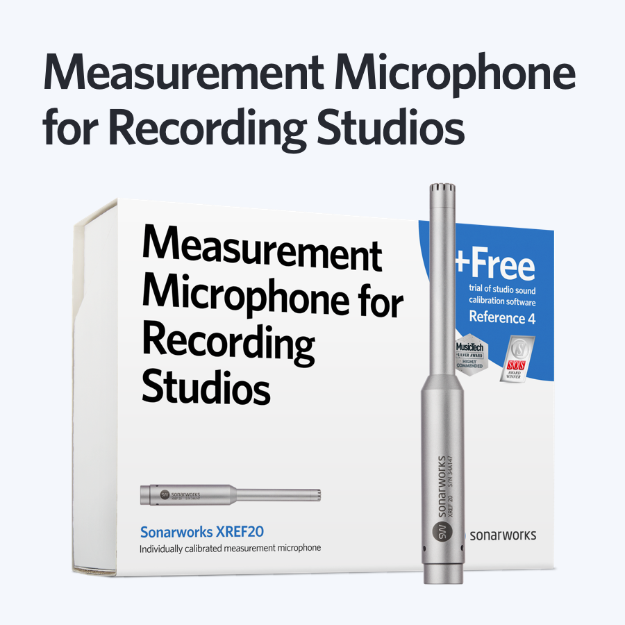 Sonarworks Measurement Microphone XREF20 box