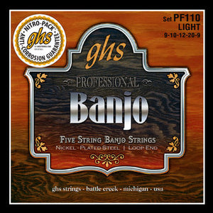 GHS Strings 5-STR BANJ,NICKEL PLATE,LT