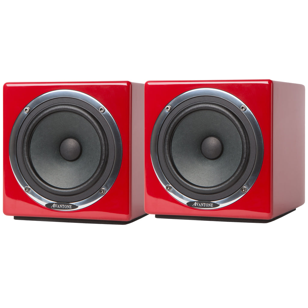 "Avantone Pro Active MixCubes 5.25"" Powered Studio Monitor Pair - 10th Anniversary Red"
