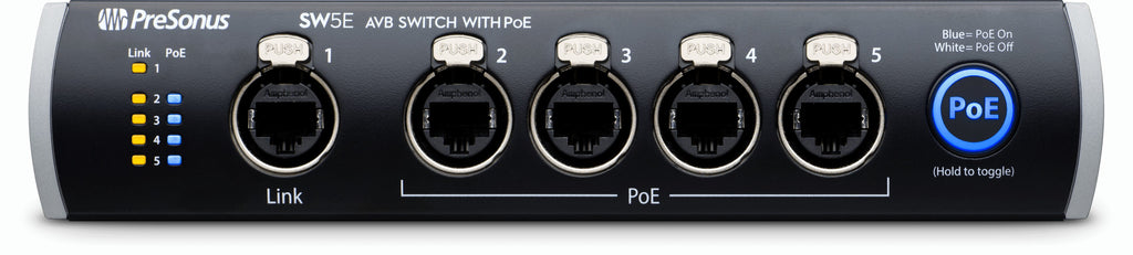PreSonus SW5E 5-port Audio Video Bridging Switch w/ PoE