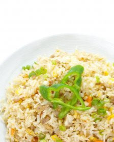 Fried Rice with Abalone and Crabmeat 鲍粒蟹肉炒饭