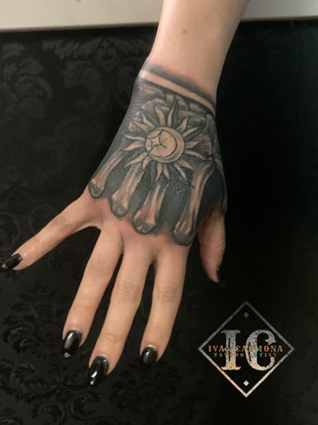 Hand Tattoo Skeleton