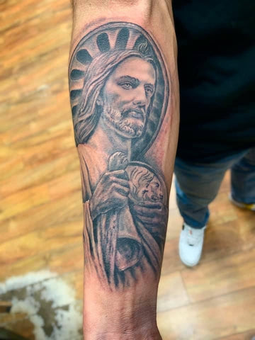 Religious Tattoo Forearm Tadeo Saint
