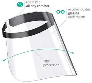 Germ Protection Safety Face Shield 2-Pack