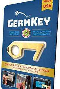 GermKey Brass No Touch Hand Tool