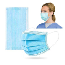 Load image into Gallery viewer, 3 Ply Disposable Face Mask - 50 Pack Earloop Face Mask