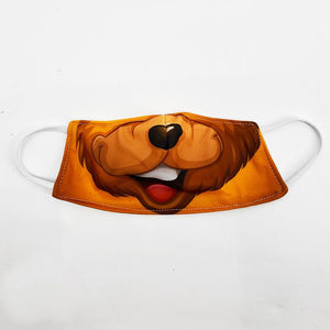 Brown Bear Face Cover Mask