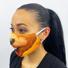 Load image into Gallery viewer, Brown Bear Face Cover Mask