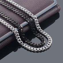 Load image into Gallery viewer, Never Fade 3.5mm/5mm/7mm Stainless Steel Cuban Chain Necklace Waterproof - The Asian Centre