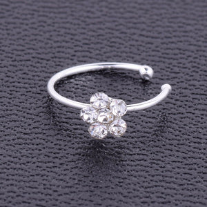 1Pc Fashion Stainless Steel Crystal Rhinestone Nose Ring - The Asian Centre