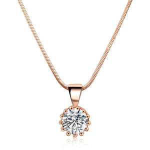 Unique Crown Cubic Zircon Necklaces & Pendants For Women - The Asian Centre