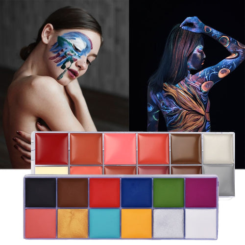 Make Up Oil Painting Art Halloween Party Fancy Waterproof Beauty Makeup Brush Eye shadow Kit - The Asian Centre