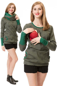 Maternity Nursing Hoodie Winter Pregnancy Clothes - The Asian Centre