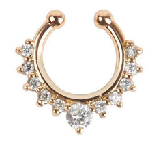 Load image into Gallery viewer, 1Pc 10mm Zircon Piercing Nose Ring Hoop nose For Girl - The Asian Centre