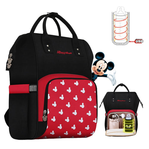 Disney Mommy Diaper Bags Mother Large Capacity Travel Nappy Backpacks - The Asian Centre
