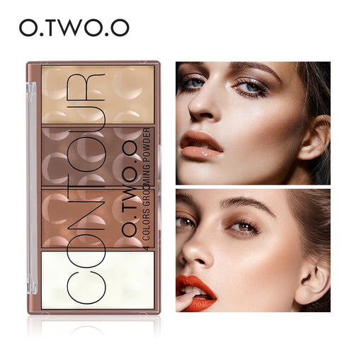 O.TWO.O 4 Colors Concealer Palette Face Makeup Base Contouring Palette Foundation Concealer Powder - The Asian Centre