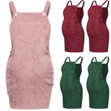Load image into Gallery viewer, Pregnant Women Corduroy Sleeveless Body-con Dresses - The Asian Centre