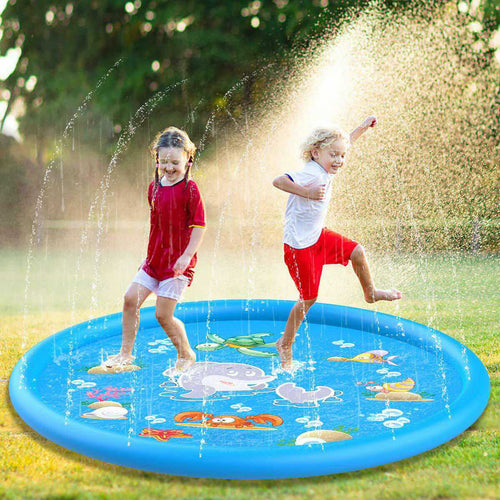 100 cm Swimming Pool Kids Inflatable Round Water Splash - The Asian Centre