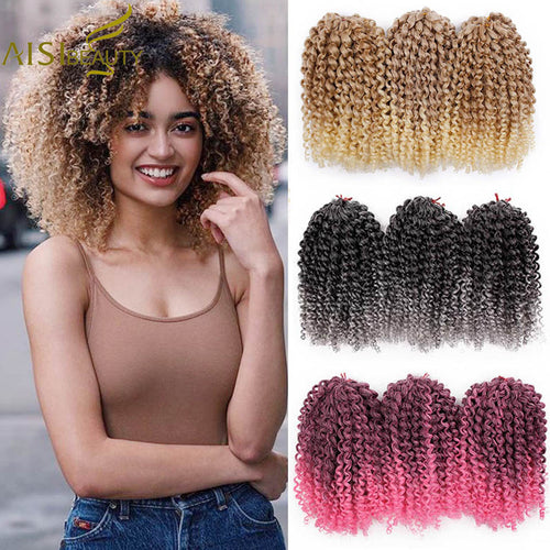 AISI BEAUTY 8inch 30g/pcs Marley Braids Ombre Crochet Braids Hair - The Asian Centre