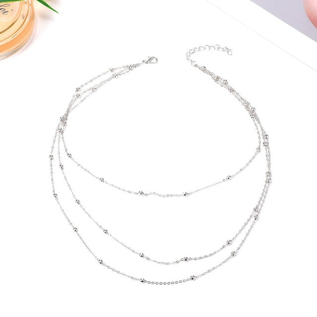 3-layers Gold Choker Necklace For Wome - The Asian Centre