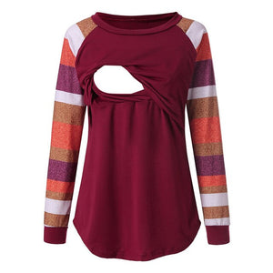 Nursing-Tops T-shirt Maternity Womens - The Asian Centre