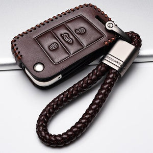 Auto Leather cover for car key case Remote Control for Volkswage - The Asian Centre