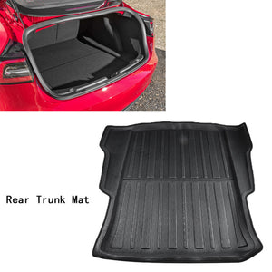 For Tesla Model 3 2019 Front Rear Cargo Tray Trunk Floor Mat - The Asian Centre
