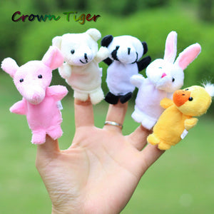 Baby Playpen kids Cartoon Animal Finger Puppet Finger Doll - The Asian Centre