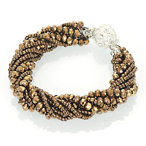 Fashion Multiple Layer Strands Crystal Seed Beads - The Asian Centre