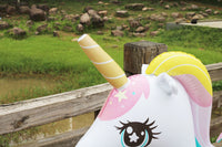 Rooxin Giant Inflatable Unicorn Water Spray Pool Toys Swimming Float Outdoor Fountain Beach Party Children's Summer Toys