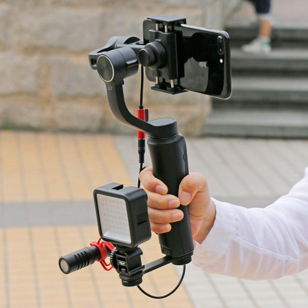 Telephone Stand With Microphone Led Video Light Set Gimbal Stabilizer