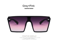 Sun Glasses: 2020 Fashion Over-sized Square Sunglasses Retro Gradient Big Frame For  Women