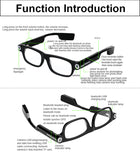 Sun Glasses: Smart Portable Eye Glasses Mini Camera HD 1080P Sports DV Bluetooth Outdoor With 8GB/32GB TF Card And Headset