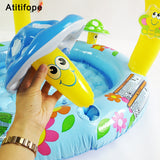 Cute mushroom shaped high quality Inflatable Pool Bright colors for children