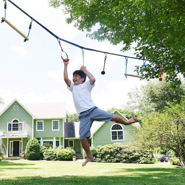Children Climbing Ninja Rope Ninja Line Obstacle Training Equipment Kids Fun Slack Line Outdoor Children's Sports Equipment