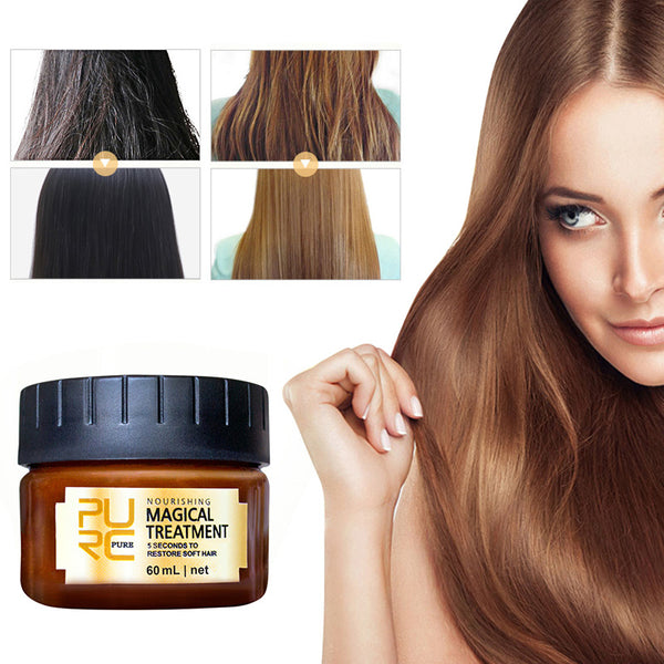 Hair Treatment: Pure Magical keratin Hair Treatment  5 Seconds Repairs Damage Hair Root