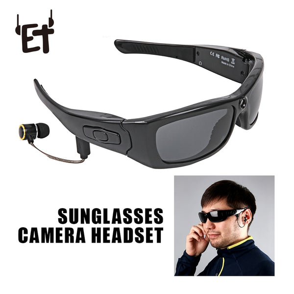 Sunglasses Camera Headset HD1080P Bluetooth With MP3 Player Photo Video Recorder Mini DV Camcorder for Outdoor Mini Camera Glasses