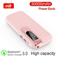 Power: 30000 mAh Power Bank Portable Phone Charger Large Capacity Power bank Outdoor Travel LCD Digital Display LED Lighting Poverbank