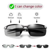 Sun Glasses: Men Polarized Driving Color Day Night Vision Sunglasses And  Driver's Eye-wear