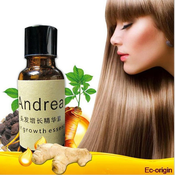 Hair treatment: Ginger Extract Dense Hair Fast Sunburst Hair Growth Essence Restoration Hair Loss Liquid Serum Hair Care Oil