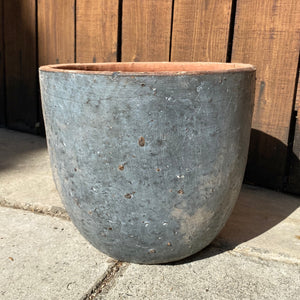 "10.5"" Rustic Tapered Ceramic Planter"