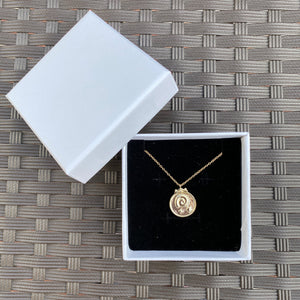 18k Gold Fossil Necklace