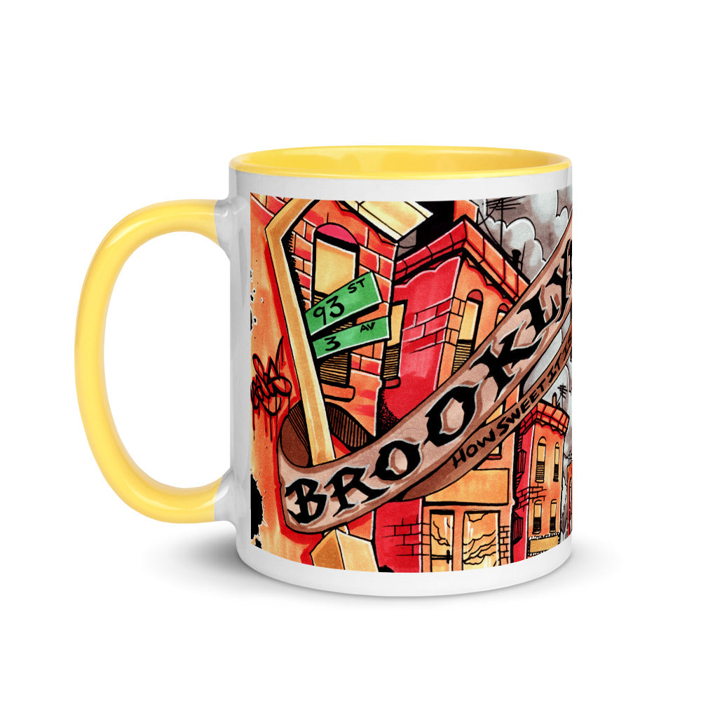 BROOKLYN HOW SWEET IT IS Mug with Color Inside